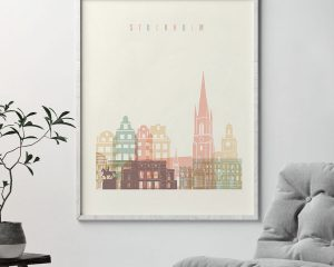 Stockholm art print pastel cream second