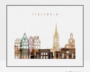 Stockholm poster watercolor 1 landscape