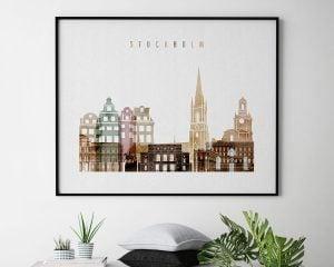 Stockholm poster watercolor 1 landscape second