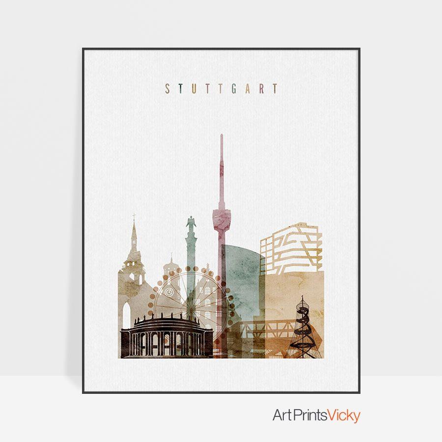 Stuttgart poster watercolor 1
