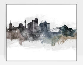 Sydney art poster watercolor
