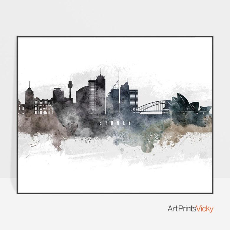 Sydney art poster watercolor