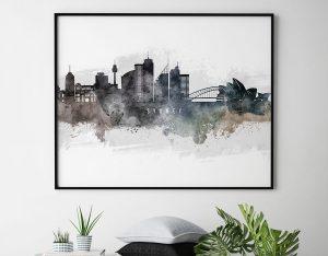 Sydney art poster watercolor second