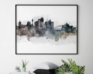 Sydney art poster watercolor second