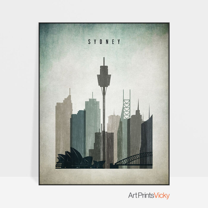 Sydney poster distressed 3