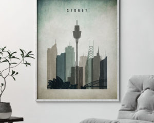 Sydney poster distressed 3 second