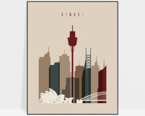 Sydney poster earth tones 2