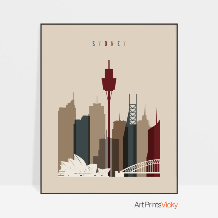 Sydney poster earth tones 2