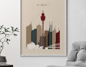 Sydney poster earth tones 2 second