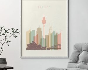 Sydney wall art pastel cream second