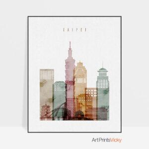 Taipei poster watercolor 1