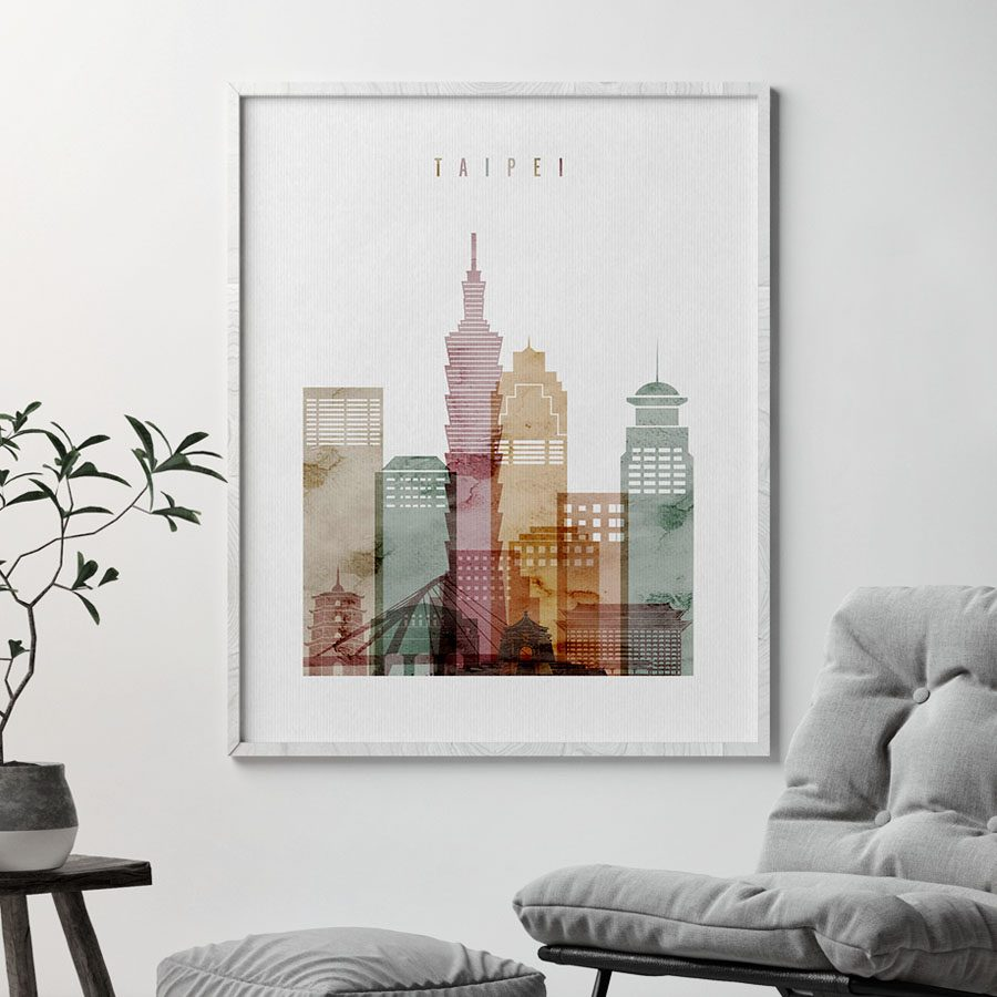 Taipei poster watercolor 1 second