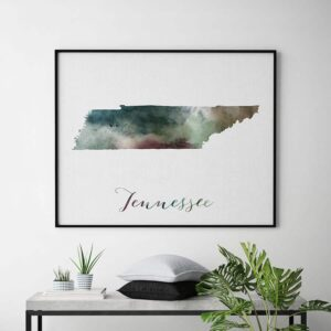 Tennessee State map print second