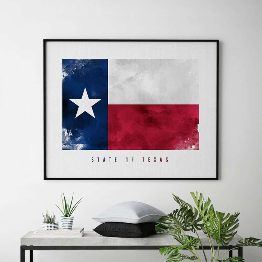Texas State flag art print second