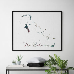 The Bahamas map poster second