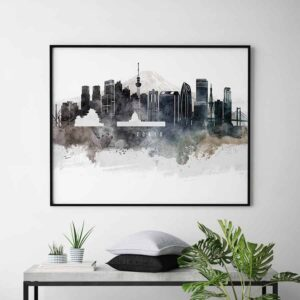 Tokyo art poster watercolor second