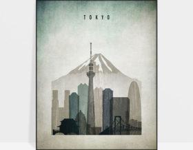 Tokyo poster distressed 3