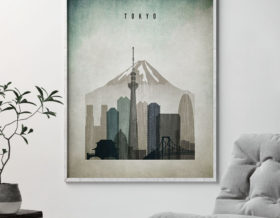 Tokyo poster distressed 3 second