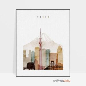 Tokyo poster watercolor 1