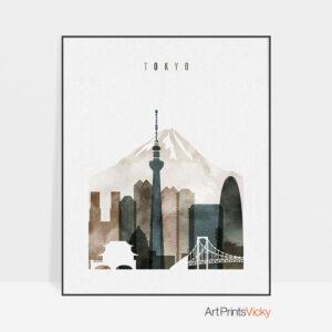 Tokyo print watercolor 2