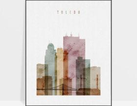 Toledo poster watercolor 1