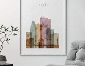 Toledo poster watercolor 1 second