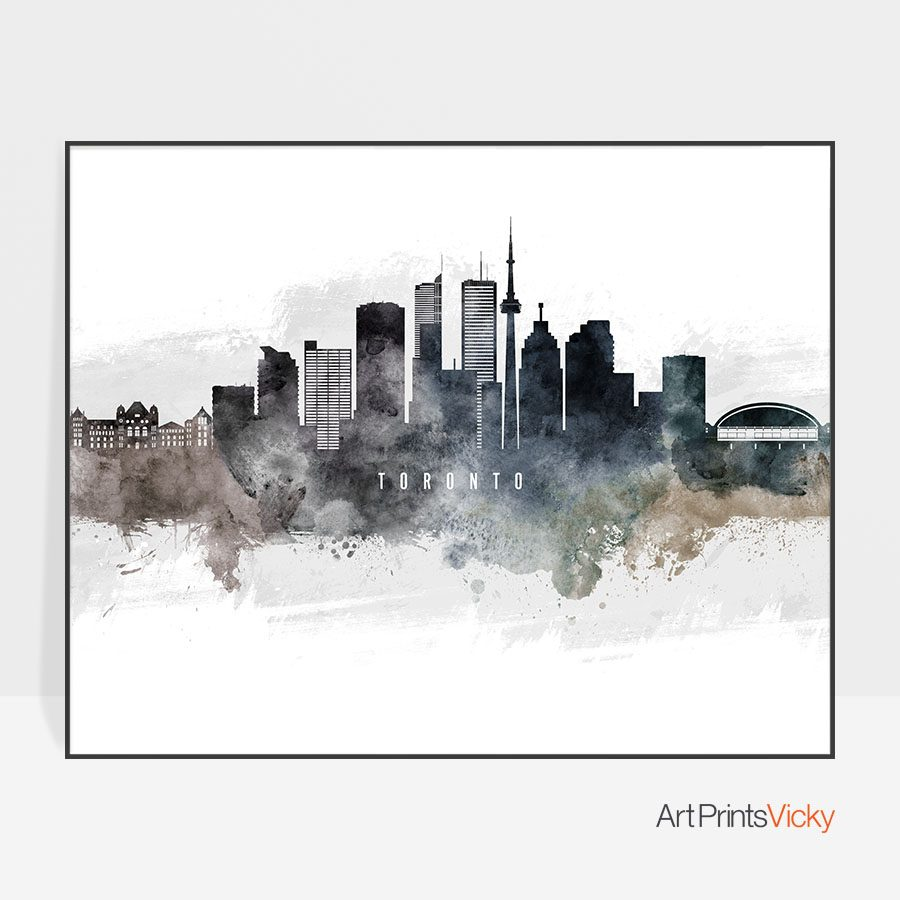 Toronto art poster watercolor