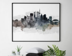Toronto art poster watercolor second