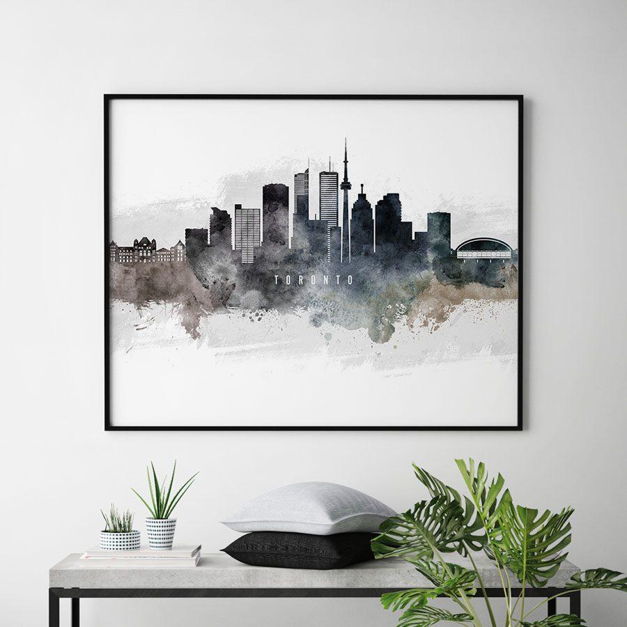Toronto art poster watercolor second