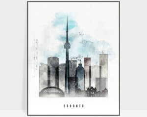Toronto skyline art print urban