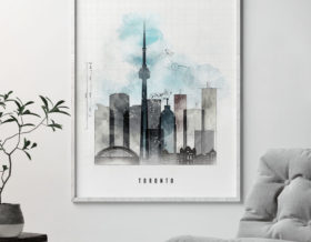 Toronto skyline art print urban second