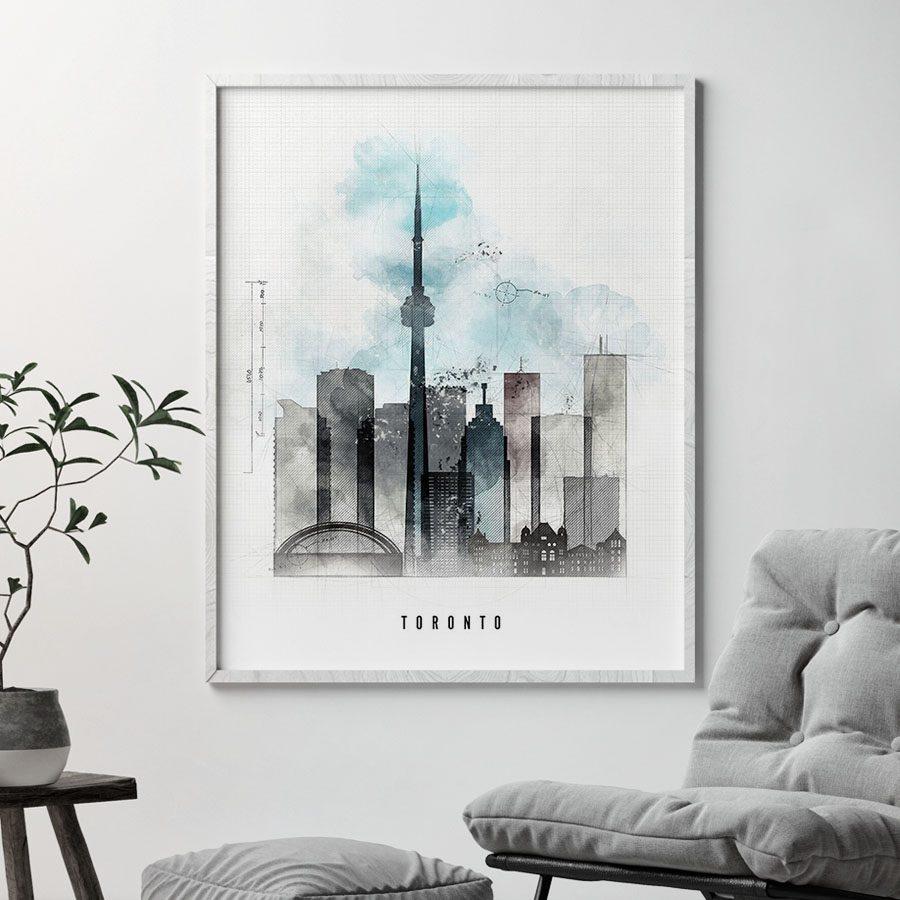 Toronto skyline art print urban second