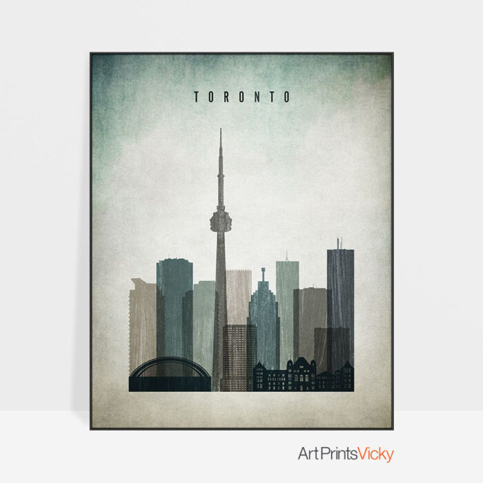 Toronto poster distressed 3