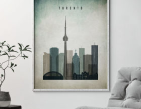 Toronto poster distressed 3 second