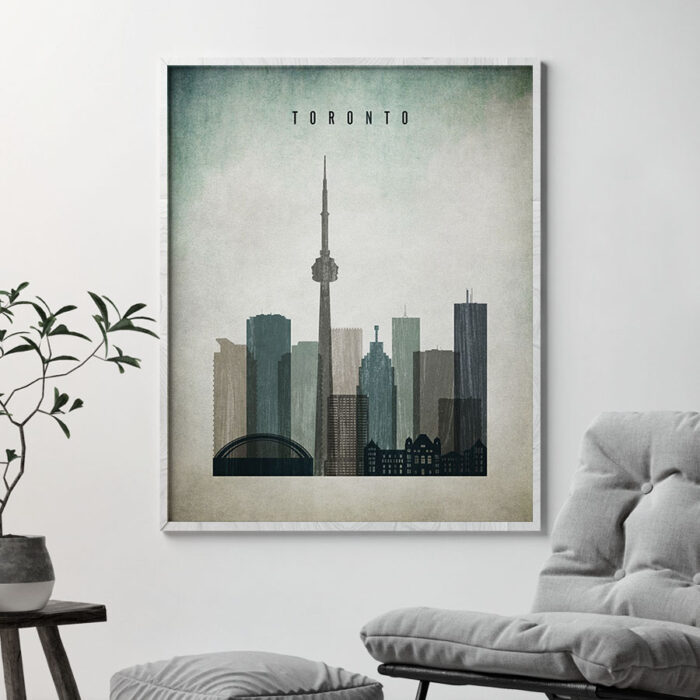 Toronto poster distressed 3 second