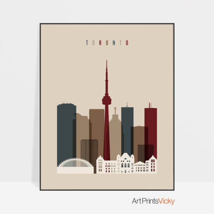 Toronto poster earth tones 2