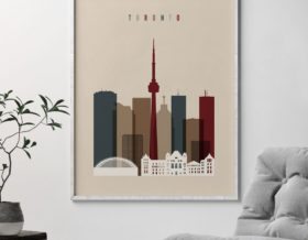 Toronto poster earth tones 2 second