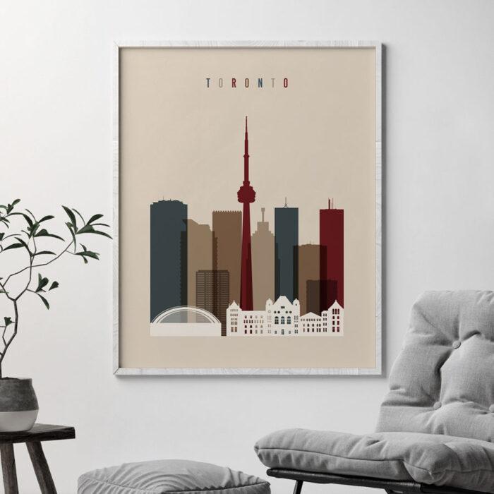 Toronto poster earth tones 2 second