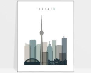 Toronto art print skyline earth tones 4