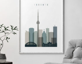 Toronto art print skyline earth tones 4 second