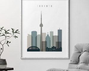 Toronto art print skyline earth tones 4 second