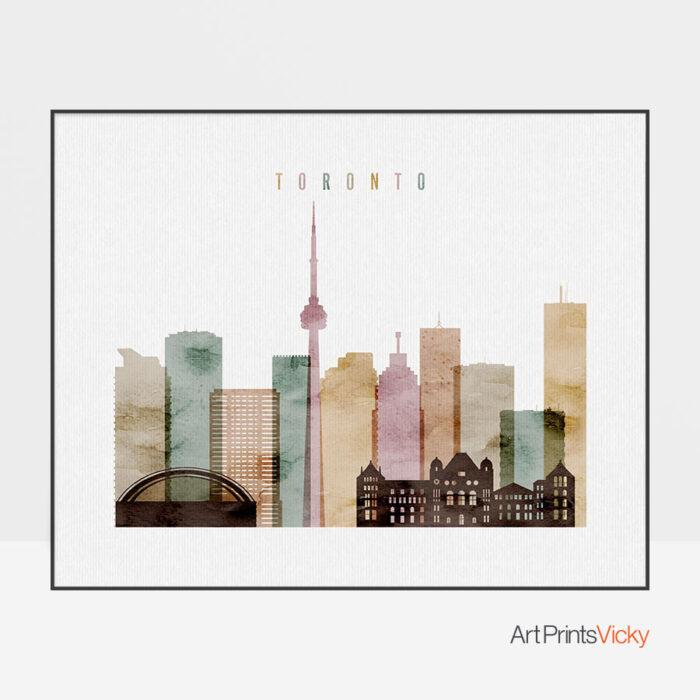 Toronto poster watercolor 1 landscape