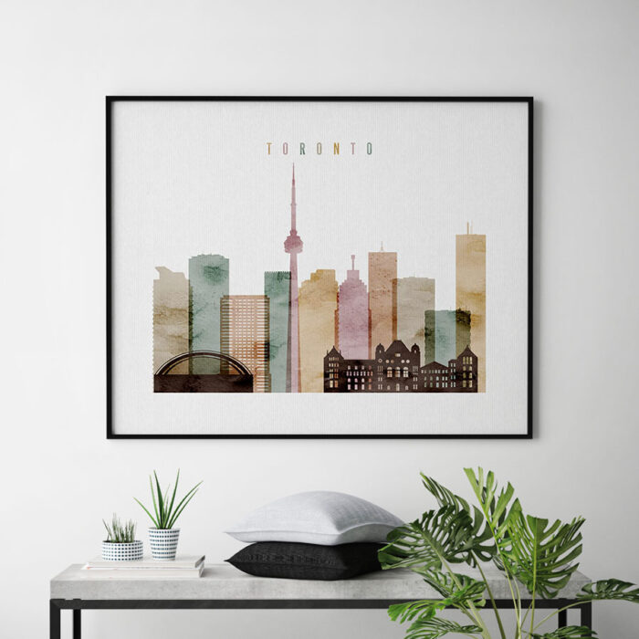 Toronto poster watercolor 1 landscape second