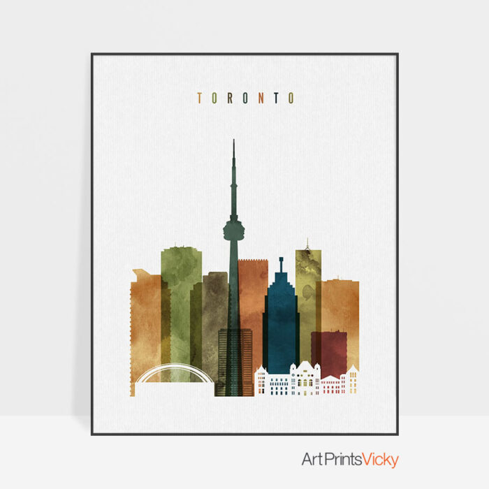 Toronto art print watercolor 3