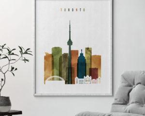 Toronto art print watercolor 3 second