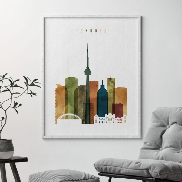 Toronto art print watercolor 3 second