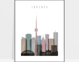 Toronto skyline poster distressed 1