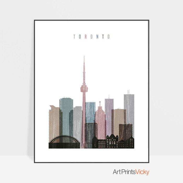 Toronto skyline poster distressed 1
