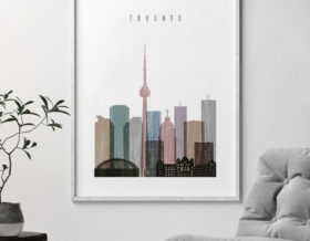 Toronto skyline poster distressed 1 second