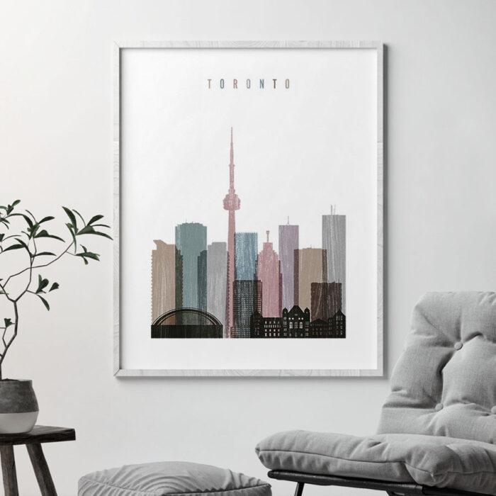 Toronto skyline poster distressed 1 second